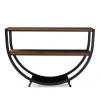 Baxton Studio YLX-9041 Blakes Rustic Distressed Wood Console Table