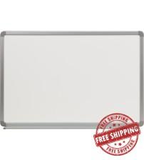 Flash Furniture YU-60X90-POR-GG Porcelain Magnetic Marker Board