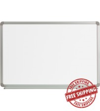 Flash Furniture YU-60X90-WHITE-GG Magnetic Marker Board