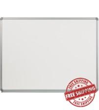 Flash Furniture YU-90X120-POR-GG Porcelain Magnetic Marker Board