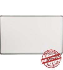 Flash Furniture YU-90X150-POR-GG Porcelain Magnetic Marker Board