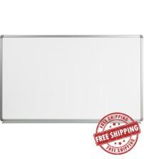 Flash Furniture YU-90X150-WHITE-GG Magnetic Marker Board