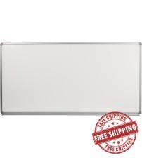Flash Furniture YU-90X180-POR-GG Porcelain Magnetic Marker Board